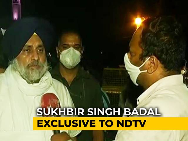 "Video : ""Had No Choice"": Akali Dal Chief On Withdrawing Support From Farm Bills"