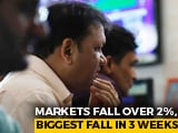 Video : Sensex Falls Over 800 Points Posts Biggest One-Day Loss In 3 Weeks