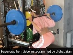 Disha Patani ने कंधे पर उठाया 60 कि.ग्रा वजन, फिर इस अंदाज में वर्कआउट करती दिखीं एक्ट्रेस- देखें Video