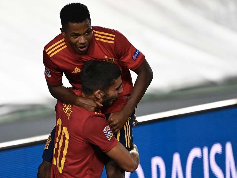 Nations League: Ansu Fati Makes History As Spain Thump Ukraine