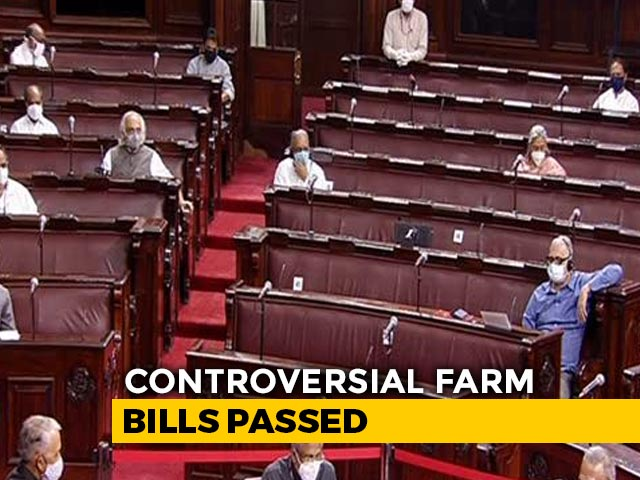 Video : 2 Farm Bills Cleared, Voting On Third Bill In Rajya Sabha Today