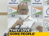 "Video : ""They (Government) Love Some People"": Sharad Pawar Says Served Tax Notice"