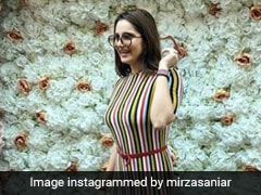 Sania Mirza Gives Her Chic Stripe Dress A Sporty Touch With Sneakers