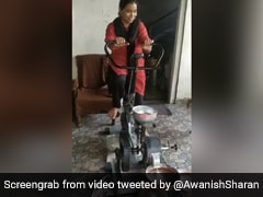 """Cycle <i>Chakki</i>: This """"<i>Jugaad</i>"""" To Grind Flour While Exercising Is Viral"""
