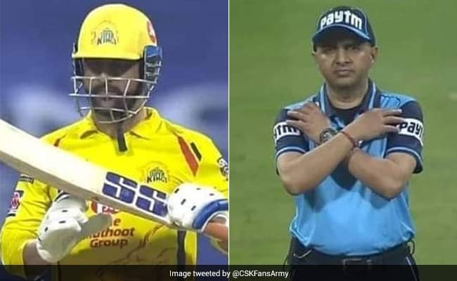 IPL 2020 MS Dhoni was given out on the first ball by umpre then uses DRS which changed the decision watch Video