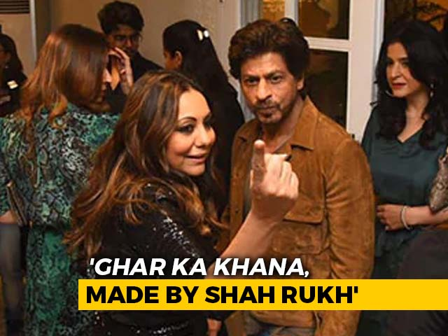 "Video : ""Shah Rukh Loves Cooking, I Enjoy Eating"": Gauri Khan To NDTV"