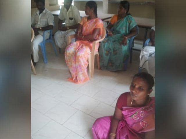 """Video : """"Due To Caste"""": Woman Panchayat Leader Made To Sit On Floor For Meeting"""