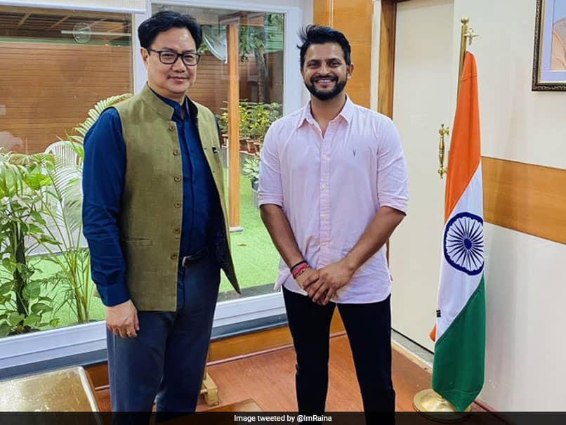 """Loved His Cricketing Journey"": Suresh Raina Shares Pic With Kiren Rijiju After Meeting"