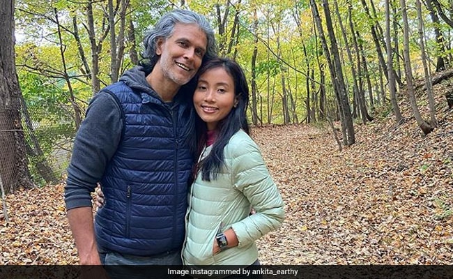 Milind Soman And Ankita Konwar Are Basking In Fall Colours In New York