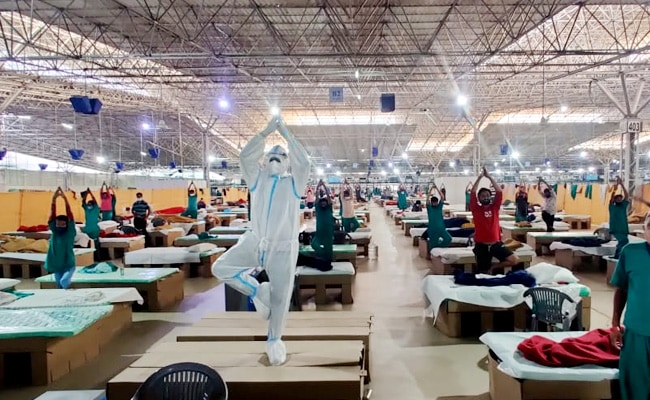 Watch: Yoga Session For Patients At Delhi's Biggest COVID-19 Care Facility