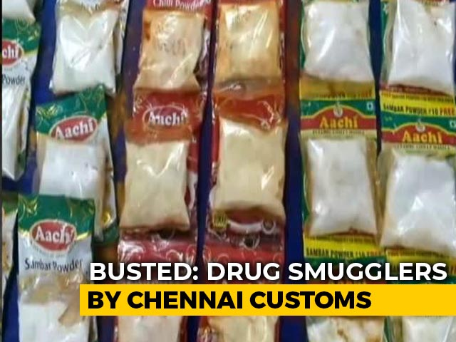 Video : Drugs Being Smuggled In Masala Packets Seized By Chennai Air Customs
