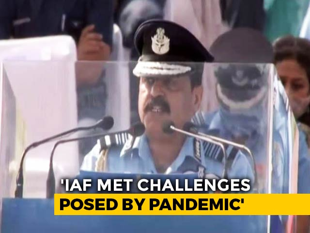 "Video : On Ladakh Standoff, Air Chief Commends ""Air Warriors For Quick Response"""