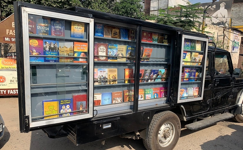 This library on wheels does its rounds in the city of Ludhiana in Punjab.