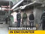 Video : Two Terrorists Killed In Jammu And Kashmir's Shopian, Operation Still On