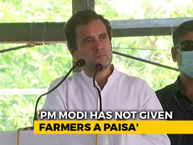 "Video : ""We Won't Let Them Destroy Farmers"": Rahul Gandhi Hits Out At Government"