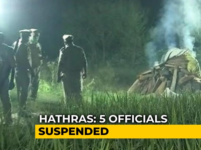 Video : Hathras Police Chief, 4 Others Suspended Amid Outrage Over Alleged Rape