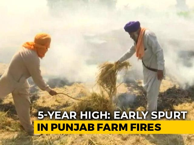 Video : Punjab Government Officials, Out To Stop Stubble Burning, Face Farmers' Anger