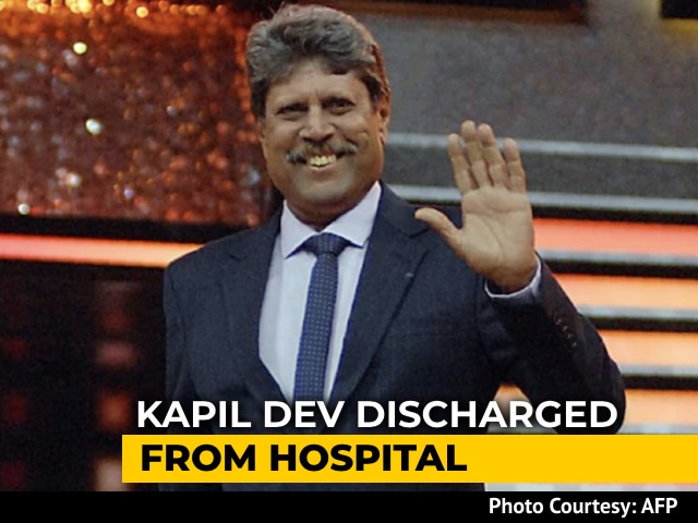 Video: Kapil Dev Discharged From Hospital After Angioplasty