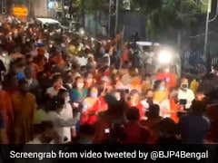 Dilip Ghosh Leads Candlelight March In Kolkata Against Police Action On BJP Workers