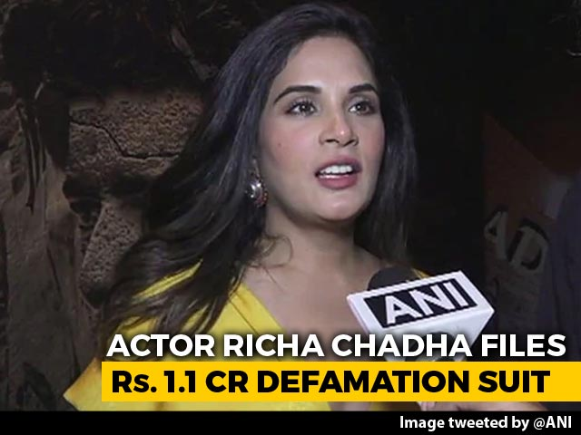 Richa Chadha Wins Apology From Actor After 1.1-Crore Defamation Case