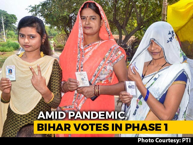 Video : 52.24% Voting Till 5 pm In Bihar Polls Phase 1, Slightly Lower Than 2015