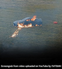 Viral Video: YouTuber Burns Down His Mercedes Out Of Frustration