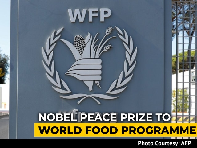 "Video : ""Food Best Vaccine Against Chaos"": Nobel Peace For World Food Programme"