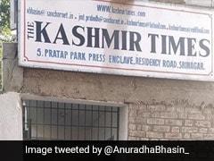 "Leaders Criticise Sealing Of ""Kashmir Times"" Office In Srinagar"