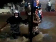 On Camera, Flooded Streets, Cars Floating Amid Heavy Rain In Hyderabad