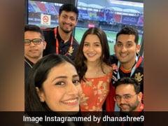 युजवेंद्र चहल का मैच देखने पहली बार स्टेडियम पहुंची मंगेतर धनाश्री वर्मा, अनुष्का शर्मा के साथ Photo की पोस्ट