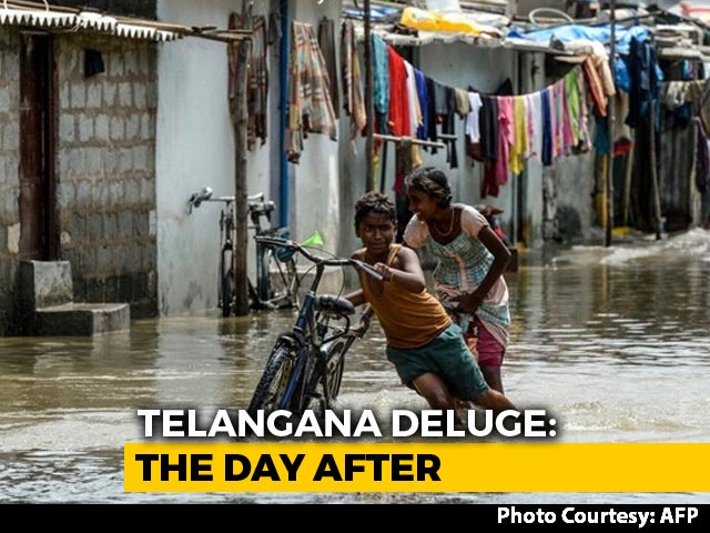 Video : Telangana Rain Deaths Rise To 50, Damages Estimated To Be Rs. 6,000 Crore