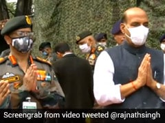 """Want Tension At Border To End"": Rajnath Singh After ""Shastra Puja"""
