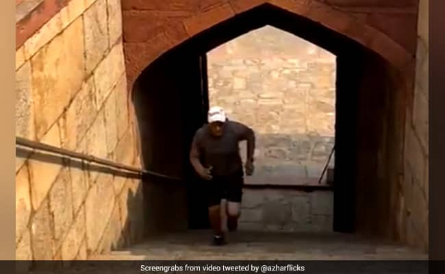 Mohammad Azharuddin Turns Back The Clock, Exercises At Humayuns Tomb. Watch