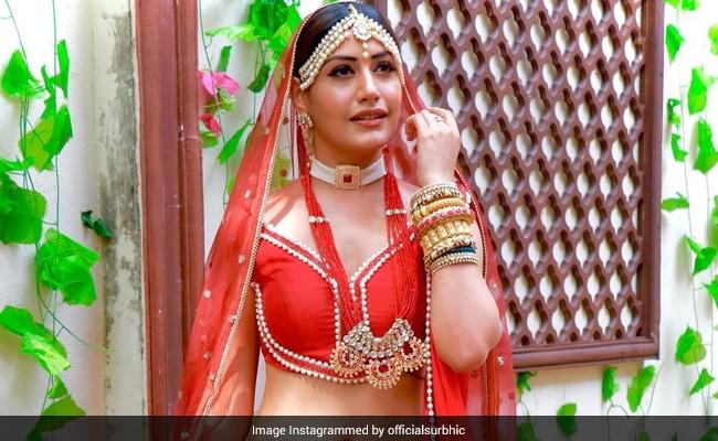 दुल्हन के लिबास में टीवी एक्ट्रेस Surbhi Chandna ने दिखाया ऐसा अंदाज, वायरल हुईं Photos