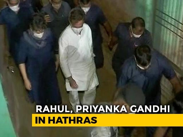 Video : Gandhis Meet Hathras Family Amid Protests, Clash With UP Cops