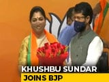 Video : Khushbu Sundar Joins BJP Hours After Quitting Congress