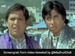 माधुरी दीक्षित को बचाने के लिए गुंडों से भिड़ गए अमिताभ बच्चन और गोविंदा, एक्ट्रेस ने शेयर किया Video