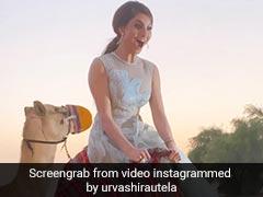 Urvashi Rautela ने की ऊंट की सवारी, Video में चिल्लाते हुए दोस्तों को कहा- बाय...