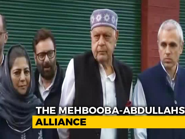 Video: Farooq Abdullah, Mehbooba Mufti In J&K Parties' Alliance For Article 370