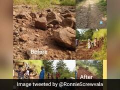 मॉनसून ने गांव की सड़क पर मचा दिया था कहर, लोगों ने साथ मिलकर यूं किया ठीक- Viral हुई Photos