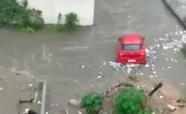 Car Seen Floating As Bengaluru Streets Flooded After Heavy Rain. Video