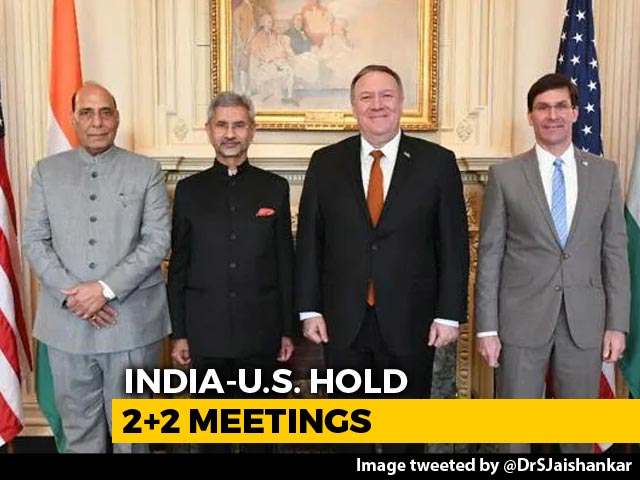 Video : At India-US '2+2' Talks, Key Defence Agreement Expected Before US Polls