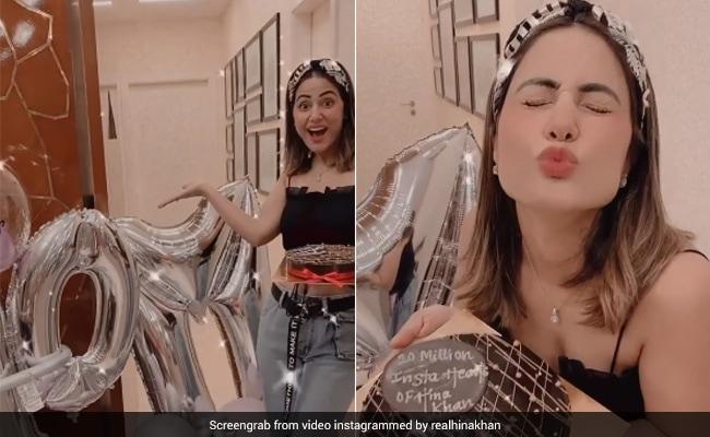 हिना खान के इंस्टा पर हुए 10 मिलियन फॉलोअर्स तो खुशी में यूं लगीं नाचने लगीं, खूब वायरल हो रहा है Video