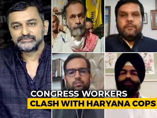 Video : Border Stand-Off: Rahul Gandhi Rally Vs Haryana Police