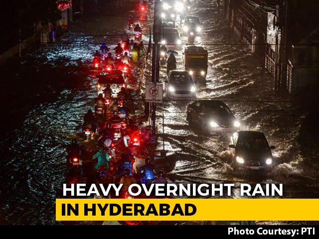 Video : More Heavy Rain In Parts Of Hyderabad Days After Deadly Downpour