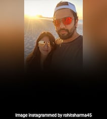 Rohit Sharma Spends 'Relaxed Evening At The Beach' With Wife Ritika