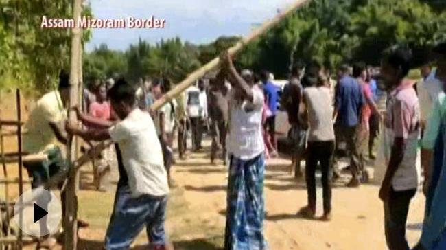 MHA के दखल के बाद भी असम-मिजोरम सीमा पर फिर बवाल, NH-306 पर दो दिनों से सैकड़ों ट्रक खड़े