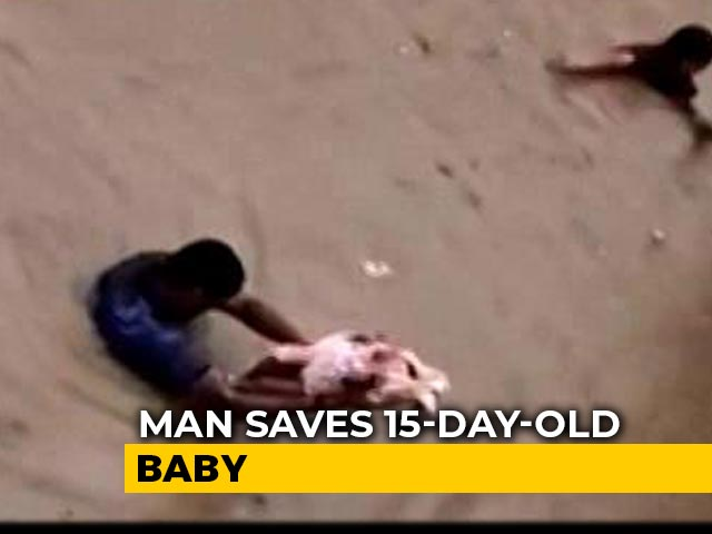 Video : On Camera, Bengaluru Men Save Children As Heavy Rain Floods Streets