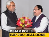 Video : Nitish Kumar's Party, BJP Reach 122-121 Seat Deal For Bihar Polls