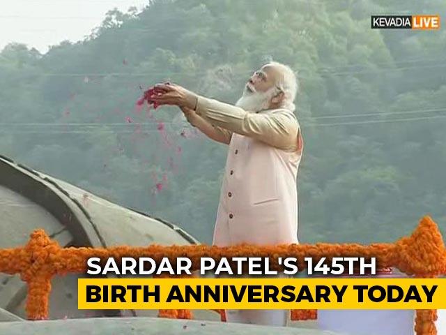 Video : PM Modi Pays Tribute To Sardar Patel At Statue Of Unity